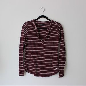 Abercrombie & Fitch burgundy henley